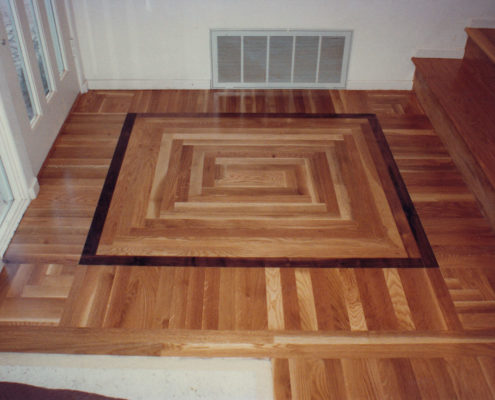 White Oak with a God's eye center pattern