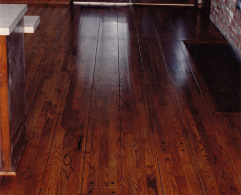 """Red Oak Pegged & Grooved to look like a 9"""" plank"""