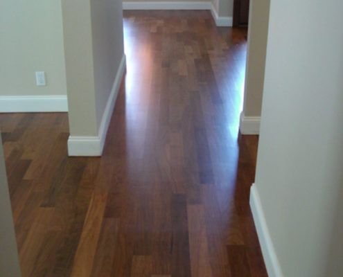 Refinished Ipe, commonly known as Brazilian Walnut.